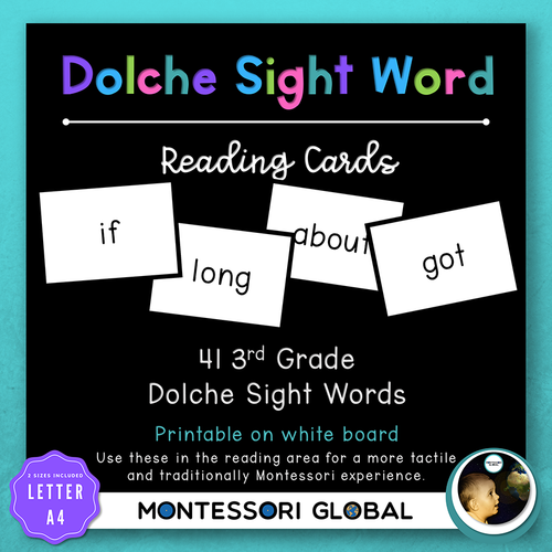 Third Grade Sight Word Spelling Lists, Posters & Google Slide Flash Cards