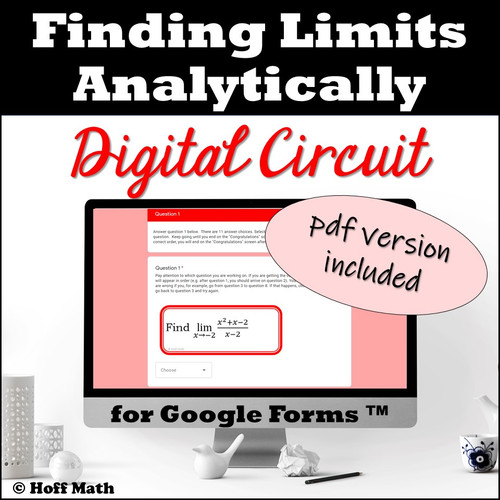 Finding Limits Analytically DIGITAL CIRCUIT