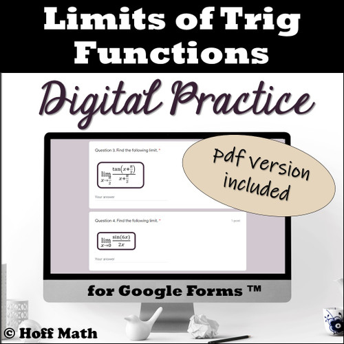 Limits of Trig Functions DIGITAL PRACTICE