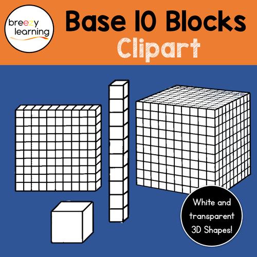 Base Ten Blocks/Isometric/MAB Clipart
