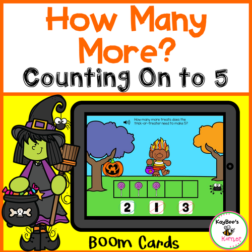 How Many More to Make 5 Boom Cards