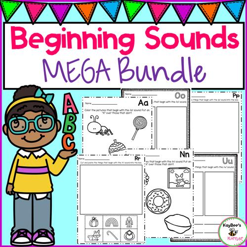 Beginning Sounds Activities MEGA Bundle