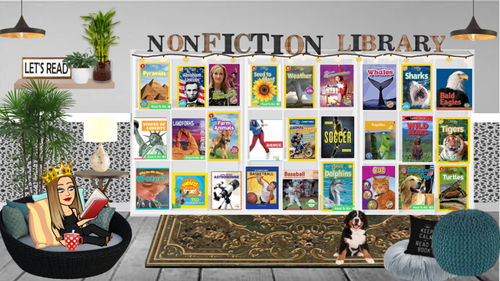 Bitmoji Classroom - Non-Fiction Reading Room (2-4)