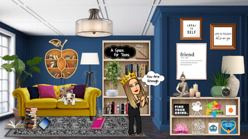 Bitmoji Classroom - A Space For Teens Activities & Resources Classroom Template