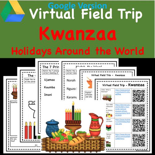 Digital version - Kwanzaa Virtual Field Trip-  Holidays Around the World