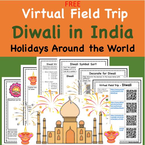 FREE Diwali in India- Holidays Around the World Virtual Field Trip