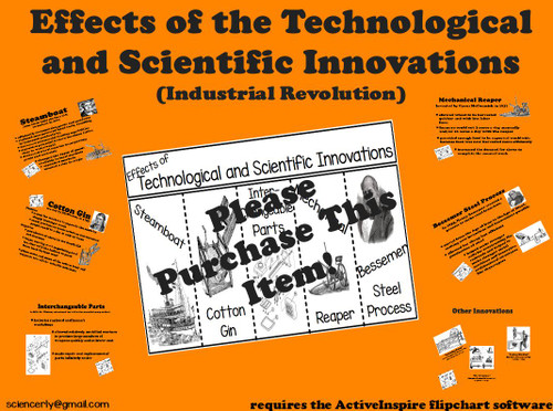 Effects of Technological and Scientific Innovations FLIPCHART and FOLDABLE