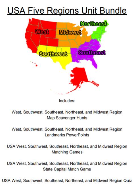 USA Five Regions
