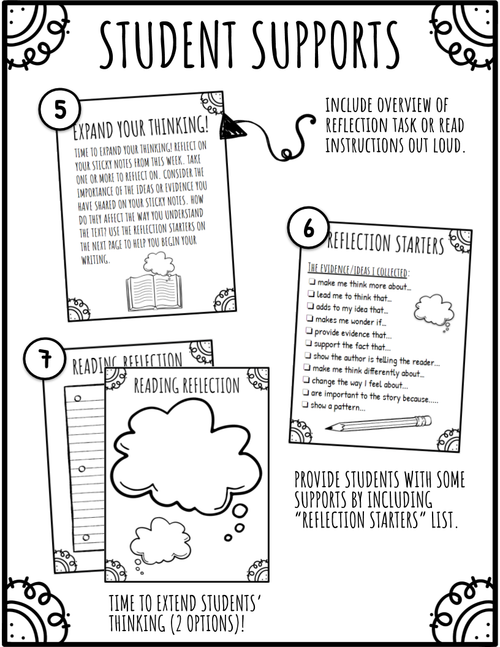 Stop and Jot Reading Reflection Log / Journal (Fiction Text)