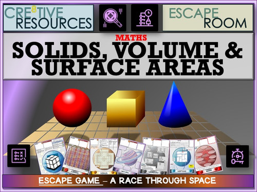 Solids, volumes and surface area Maths Escape room