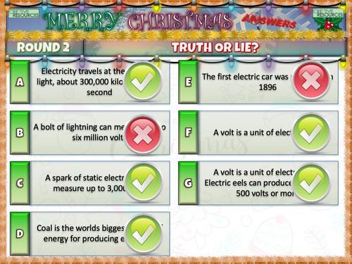 Science Elementary Christmas Quiz