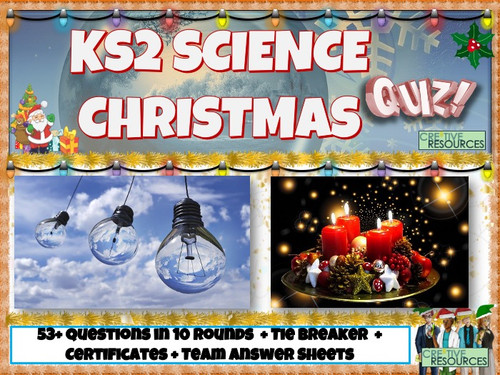 Science Elementary Christmas Quiz