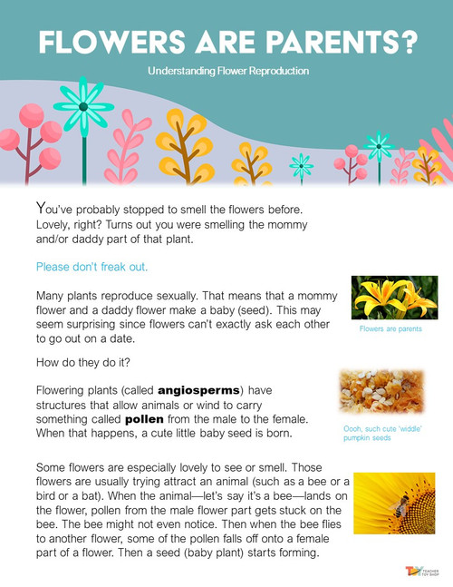 Parts of a Flower and Plant Reproduction Activities | Distance Learning