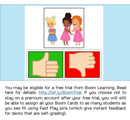Boom Cards™ Kind or Unkind Behavior Identification Deck