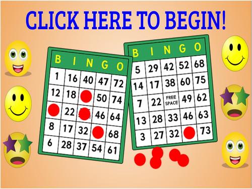 Periodic Table Interactive Virtual Bingo! Elements #1-40  (On Google Slides!)
