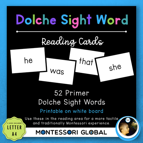 Primer Dolche Sight Word Spelling Lists, Posters & PowerPoint Flash Cards