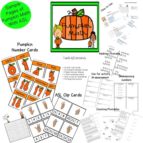 ASL Pumpkin Math