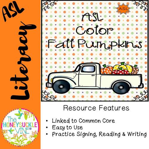 ASL Color Fall Pumpkins