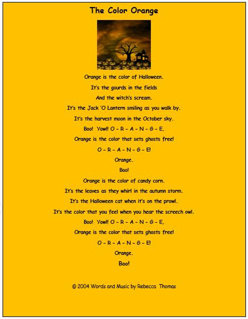 Halloween Song and Activities - Learning and Fun Wrapped into One!
