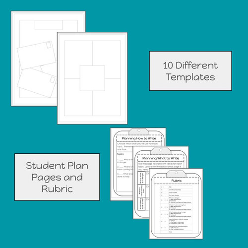 Plan pages and templates to help students work