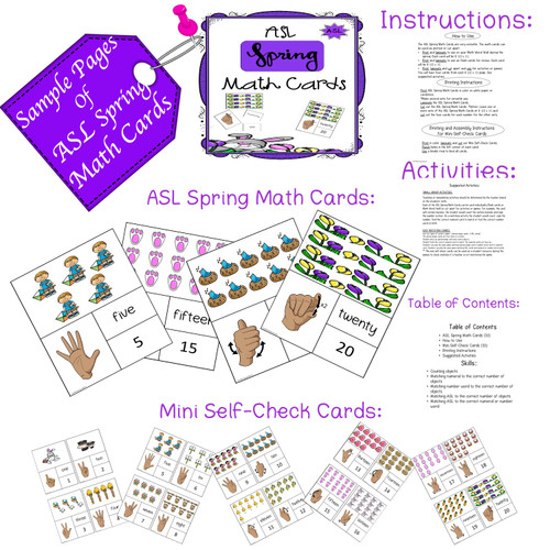 ASL Seasonal Math Cards Bundle
