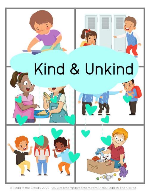 Kind & Unkind Behavior Identification & Discussion Activity