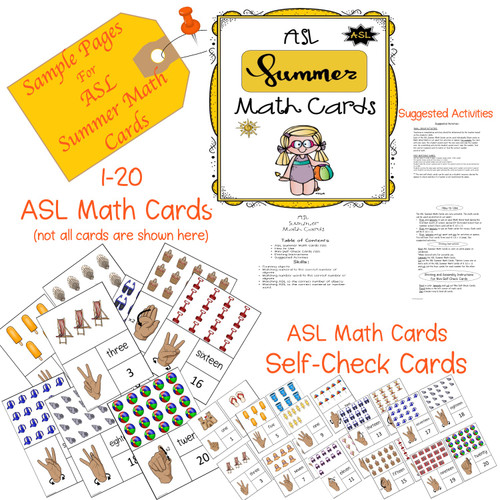 ASL - American Sign Language -  Seasons Math Cards Bundle