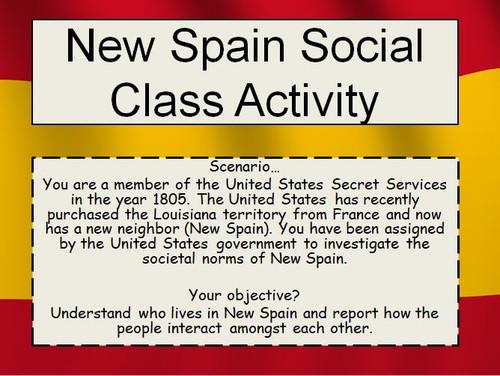 New Spain Social Class Lesson Plan