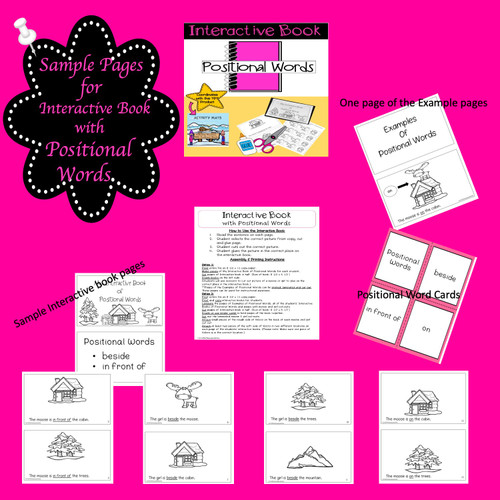Interactive Book with Positional Words