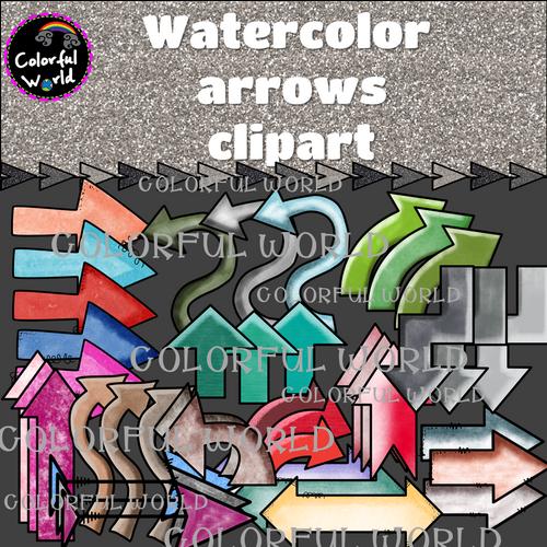 Watercolor arrows clipart