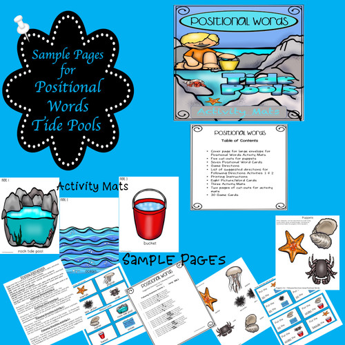 Following Directions with Positional Words Tide Pools