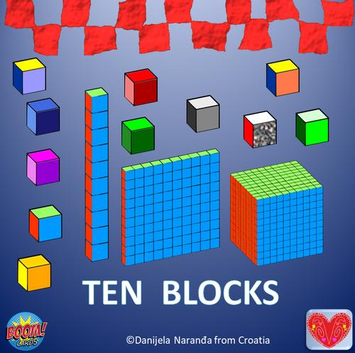 Base Ten Blocks Place Value ClipArt