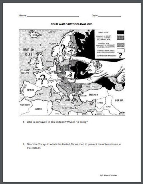Cold War Cartoon Analysis