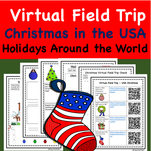 Christmas in the USA Virtual Field Trip -  Holidays Around the World