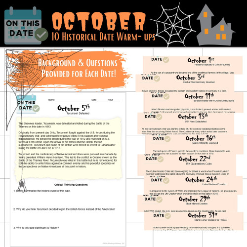 On This Date: October Warm-Ups