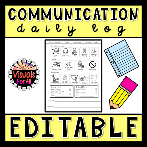 Editable Daily Communication Log