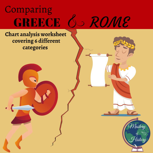Comparing Greece & Rome Chart