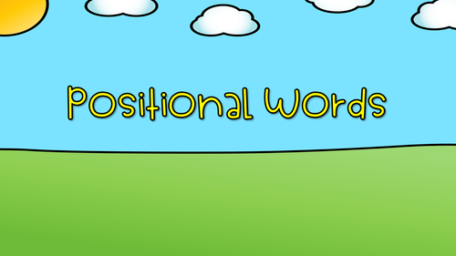 Positional Words Google Slides Activity