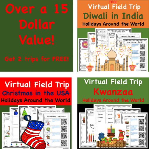 Discount Bundle- Holidays Around the World Virtual Field Trips