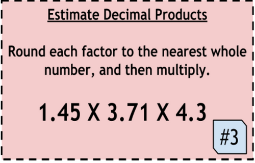 Digital Multiplying Decimals Task Cards and Assessment Bundle