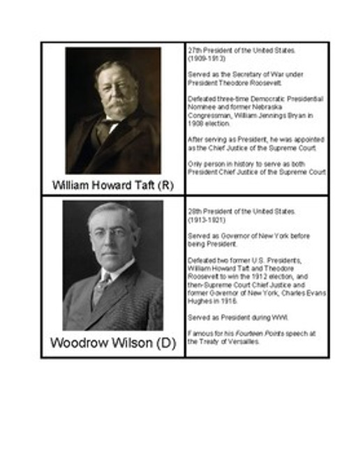 Presidents of the 20th Century
