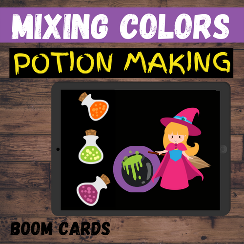 Halloween Potion Making: Mixing Colors - BOOM CARDS Distance Learning