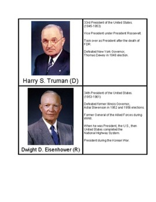 U.S. Presidents 31-40