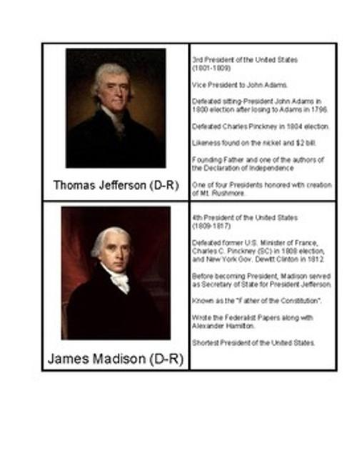 U.S. Presidents 1-10