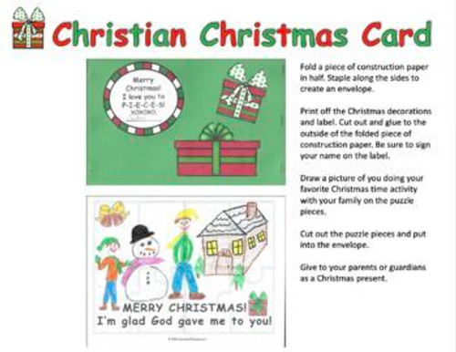 Christian Parent Christmas Gift | Christian Christmas Card for Mom and Dad