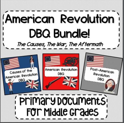 American Revolution DBQ Bundle