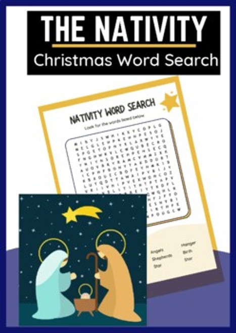 Nativity Word Search for Christmas