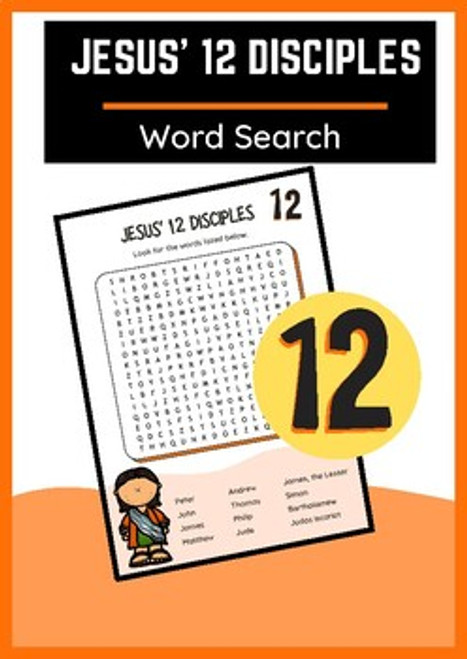 12 Disciples of Jesus Word Search