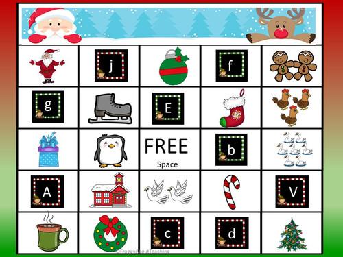 Christmas ABC Bingo