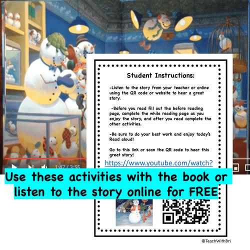 Digital Version: Read-A-Loud Tasks: Snowmen at Work